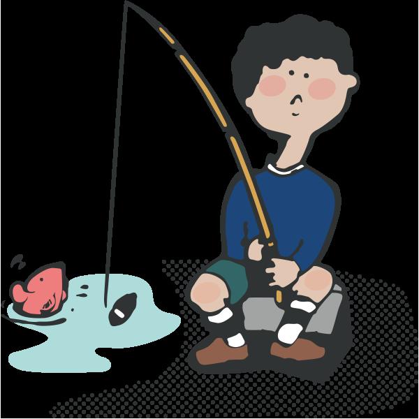 魚を釣ること(ザリガニ等を含む)